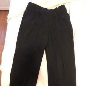 "Black express ""paperbag"" pants, ankle length"